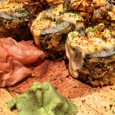 Tempura Spicy Tune rolls @ Bento Ramen (Japanese food)