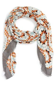 Sole Society 'Mixed Tile' Geo Print Scarf available at #Nordstrom