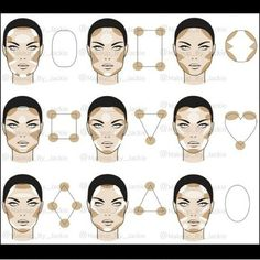 15 Trendy makeup face charts beauty make up Contour Makeup, Contouring And Highlighting, Skin Makeup, Eyeshadow Makeup, Contouring Round Face, Contouring Guide, Contouring Products, Contouring Tutorial, Makeup Contouring