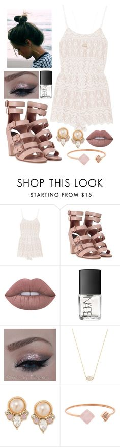 """Romper Rave"" by mary-elizabeth-1998 ❤ liked on Polyvore featuring Alice + Olivia, Laurence Dacade, Lime Crime, NARS Cosmetics, Kendra Scott, Carolee and Michael Kors"