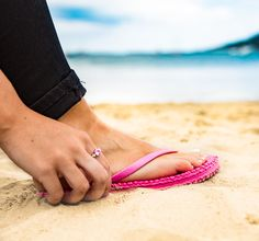 8ffad02ec81aa Beach Athletics bring you these gorgeous flip flops in Pink. The Rochefort  has a molded