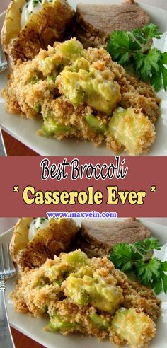 Ever since I've been a little child I have always loved broccoli casserole. My mother would make it so cheesy and yummy! I can recall her whipping up a big baking dish full of the stuff to take to our church's potluck dinners. Vegetable Casserole, Broccoli Casserole, Casserole Dishes, Casserole Recipes, Broccoli Recipes, Vegetable Recipes, Vegetarian Recipes, Cooking Recipes, Healthy Recipes