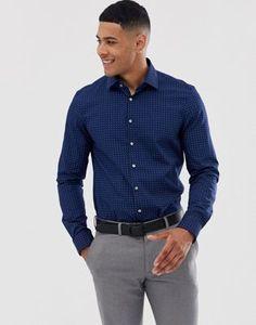 Calvin Klein Bari micro dot slim fit shirt at ASOS. Work Casual, Men Casual, Bari, Calvin Klein, Asos, Lisa, Shirt Dress, Fitness, Mens Tops