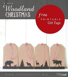 I hope you enjoy these rustic Christmas gift tags! All you need is a sheet of white card stock paper, a colour printer, a single hole punch, and some ribbon or string. The natu...