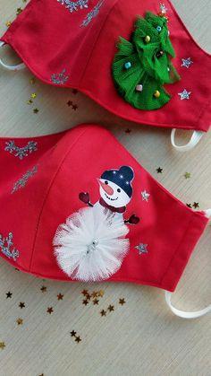Face Masks For Kids, Easy Face Masks, Diy Face Mask, Christmas Swags, Kids Christmas, Etsy Christmas, Moldes Para Baby Shower, Snowman Faces, Diy Mask