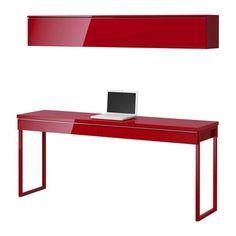 desk with shelves | BESTÅ BURS desk and floating shelf from IKEA | Desks | Home office ...