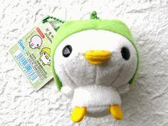 Kawaii Japanese Plush On A Chain-Ahirunano-Duck Baby On Melon Hood