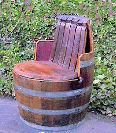 Wine Barrel Chair