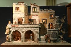 Christmas Nativity, Christmas Crafts, Christmas Time, Fontanini Nativity, Warhammer Terrain, Building Furniture, Ceramic Houses, Paperclay, Fairy Houses