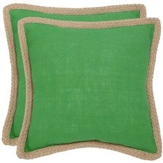 Safavieh 2-piece Sweet Sorona Throw Pillow Set ($104) ❤ liked on Polyvore featuring home, home decor, throw pillows, green, twin pack, patterned throw pillows, green home decor, green toss pillows and safavieh throw pillows