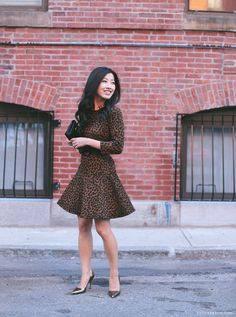 ExtraPetite.com - Spotted dress two ways