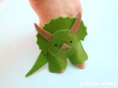 Dinosaurs Felt Finger Puppet PDF Pattern by ShillOPOP on Etsy