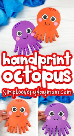 Octopus Handprint Craft For Kids [Free Template]