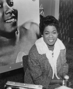 The Divine One herself, Ms. Sarah Vaughan, on tour in London, 1960.