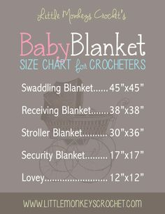 If you're like me and suddenly finding yourself surrounded by friends/family members that are pregnant, this chart from Little Monkey's Crochet should come in quite handy!