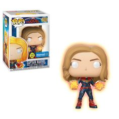 Up for sale is a Captain Marvel Walmart Glow in the Dark Exclusive Funko Pop! This specific item is a Walmart Glow in the Dark exclusive Funko Pop! This Funko Pop! features Captain Marvel from Marvel Comics. Funko Pop Marvel, Marvel Pop Vinyl, Funko Pop Toys, Figurines Funko Pop, Funko Pop Vinyl, Pop Vinyl Figures, Funko Pop Figures, Marvel Comics, Marvel Avengers