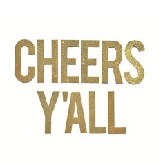 "Cheers Y'all Banner 5.5"" // Bachelorette Party Decoration // Cheers Yall Sign // Engagement Party Banner"