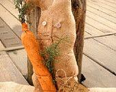Primitive Bunny, Easter Bunny, Primitive Decor