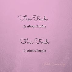 Free trade is about profits, fair trade is about people. Read more about the crucial differences between free and fair trade here. Ethical Clothing, Diy Clothing, Ethical Fashion, Slow Fashion, E Trade, Trade Fair, Innovation, Sustainable Practices, Sustainable Living