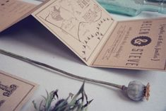 Oh So Beautiful Paper: Helen + Steve's Country Inspired Kraft Paper Wedding Invitations