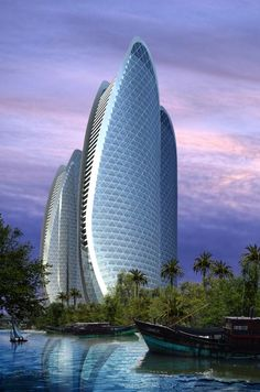 Oceanic Fishing Cultural Center residential towers in Tanmen by OAC ☮k☮ #architecture