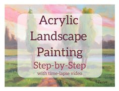 Acrylic Landscape Painting Example Step-by-Step