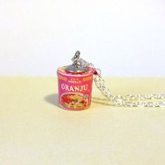 Miniature Food Necklace Instant Cup of Noodles with by qminishop