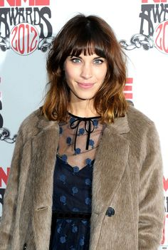 Alexa Chung at the NME Awards 2012 with Ombre Hair