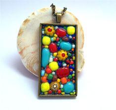 millefiori mosaic pendant | Lisa Wong-kam Jewellery Designs | madeit.com.au