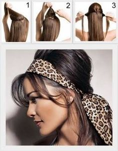 Scarf hair wrap bouffant