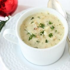 New England Clam Chowder ~ So Creamy and Buttery with Potato and Minced Clams