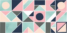 Nancy Straughan - colors remind me of the bathroom colors in the 50's & 60's, but would make a nice quilt