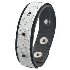 Crinkled Groment Band Leather Wristband