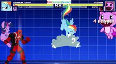Rainbow Dash And Twilight Sparkle VS Toothy And Deadpool In A MUGEN Match / Battle / Fight This video showcases Gameplay of Rainbow Dash And Twilight Sparkle From The My Little Pony Friendship Is Magic Series VS Toothy The Beaver From The Happy Tree Friends Series And Deadpool In A MUGEN Match / Battle / Fight