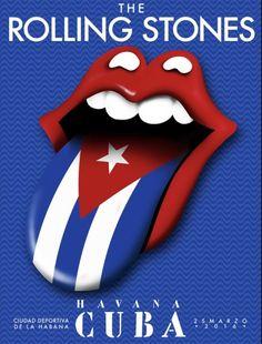 Stones Cuba flag poster