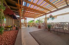Front covered patio.