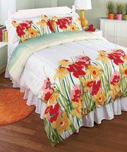 3-Pc. Watercolor Floral Comforter Set