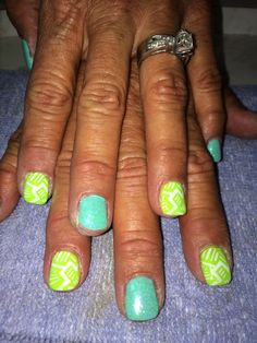 Teal and lime