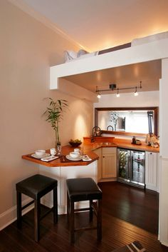 I love the breakfast bar! www.Facebook.com/TinyHousesAustralia or at www.tumblr.com/blog/tinyhousesaustralia