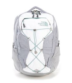 The North Face Borealis Mountain Life Daypack - White Light/Directional Heather/Mid Grey N/A Cute Backpacks For School, Trendy Backpacks, College Backpacks, Leather Backpacks, Leather Bags, North Face Backpack School, North Face Borealis, North Face Backpack Borealis, The North Face