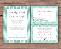 Printable Wedding Invitation Set  by DarlingPaperCompany on Etsy, £18.00