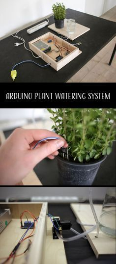 How to make a plant watering system powered by Arduino.