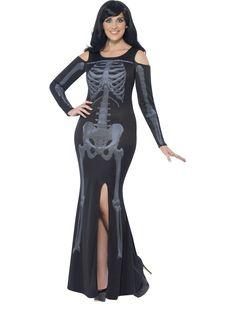 Women's Curves Skeleton Costume