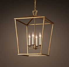 """Maybe to be used as """"chandelier"""" for dining room Restoration Hardware 19Th C. English Openwork Pendant - Gilded Iron"""