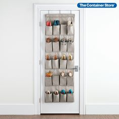 Made from recycled plastic bottles, our 20-Pocket Eco-Fabric Over the Door Shoe Bag is the Earth-friendly way to organize your shoes! Generously sized gusseted pockets hold men's or women's footwear, and ample space between each pocket makes it easy to insert or remove shoes. A steel hanging bar provides added support and prevents sagging. Hanging Shoe Storage, Hanging Shoe Organizer, Hanging Shoes, Hanging Bar, Bag Storage, Door Organizer, Basement Storage, Locker Storage, Diy Locker