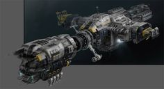 """Nice tip from Morpheus. He writes: """"Check out the concept art for the last ship on EVE Online , it looks gorgeous! Spaceship Design, Spaceship Concept, Concept Ships, Concept Art, Matte Painting, Sci Fi Anime, Space Engineers, Sci Fi Spaceships, Sci Fi Ships"""
