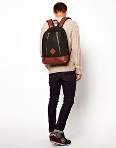 Backpack in Waxed Canvas