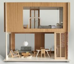Modern Dollhouse Miniio