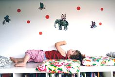 Vinyl Wall Sticker Decal Art  Flying fishes and by MoutonCerise, €40.00