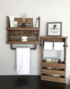 Bathroom Set Shelf Iron Pipe Towel Bar and Toilet Paper and Magazine Holder Fixer upper decor Rustic Industrial Bathroom storage Pipe modern - #Bar #bathroom #Decor #Fixer #Holder #Industrial #iron #Magazine #Modern #paper #pipe #Rustic #Set #Shelf #Storage #Toilet #Towel #upper
